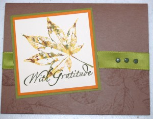 Card created with the With Gratitude stamp set.
