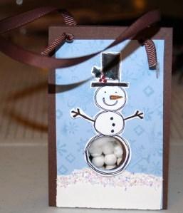 Snowman Tic Tac Holder