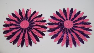 Create 2 matching flowers and adhere to flip-flops.