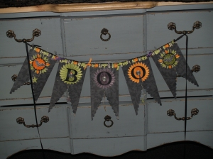 Boo Banner created using the Pennant XL Big Shot die.